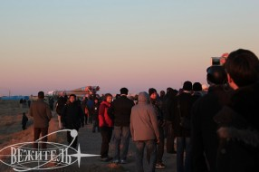Olympic Torch relay at Baikonur spaceport