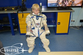 Ready for the space flight!