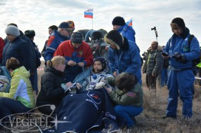 Soyuz MS-01 spacecraft landing trip