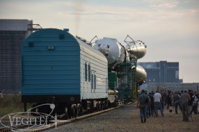 Baikonur tour - Soyuz MS-01 launch