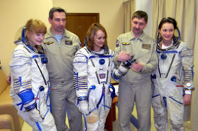 Sokol spacesuit training