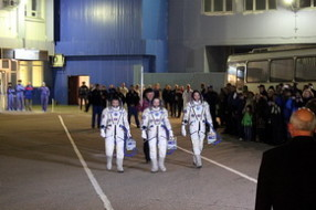 Olympic torch relay at Baikonur
