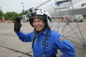 Edge of space flight for Chinese lady